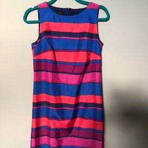 Talbots size 4 stripped dress elegant